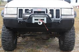 1998 jeep grand bumper rock 4x4 8482 bolt on winch plate with fairlead mount for
