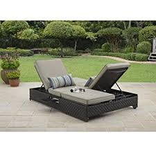 amazon com double chaise lounger this red stripe outdoor