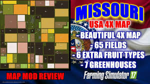 canadian map fs17 fs17 missouri usa 4x map map mod review