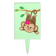 monkey cake topper monkey cake toppers zazzle