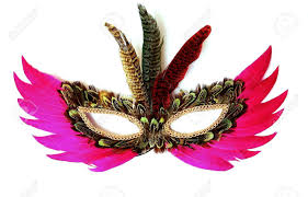 feather mask colored feather mask on white background stock photo picture and