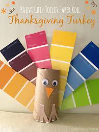 toilet paper turkey craft paint chip turkey craft for thanksgiving