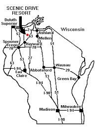 wisconsin scenic drives map scenic drive resort map page