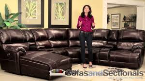 Chocolate Sectional Sofa Franklin 572 Sectional Sofa In Chocolate Youtube