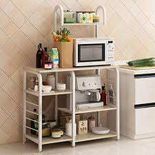 kitchen pantry storage cabinet microwave oven stand with storage lefthigh kitchen storage shelves baker s rack utility 35 microwave oven stand 4 tier spice kitchenware organizer workstation open floor cupboard