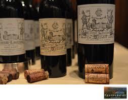 Anniversary Wine Bottles Chateau Lagrange Historic Vintage Bottles Wine Tasting Four
