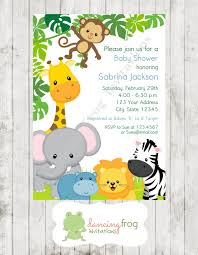 boy or wild animals jungle safari baby shower