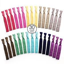 no crease hair ties no tangle no crease ribbon hair tie bands rainbow 30 pack
