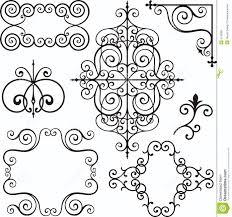 wrough iron ornaments royalty free stock photo image 3739395