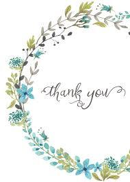 thank you card blue wreath everyday gratitude