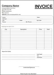 sample printable invoice tax invoice template microsoft excel