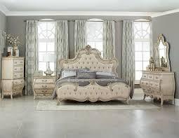 Upholstered Bedroom Sets Homelegance Elsmere Button Tufted Upholstered Bedroom Set