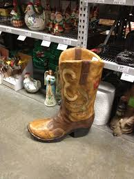 Cowboy Boot Planter by Giant Cowboy Boot Planter Love This Texas Decor Pinterest