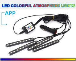 app controlled car lights car led strip light bluetooth aux phone app control car styling led