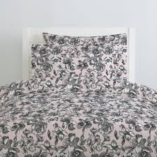 Pink And Black Duvet Set Pink And Gray Floral Duvet Cover Carousel Designs