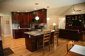 kitchen with stainless steel appliances kitchen design dark cherry cabinets and black stainless steel