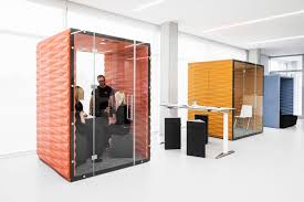 open floor plan office space vank s soundproof pods offer private workspaces for open plan offices