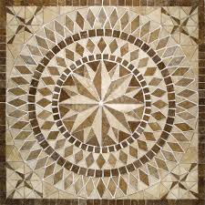 Home Depot Decorative Tile by Ms International Del Sol Medallion 36 In X 36 In Travertine