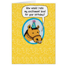 funny horse birthday cards greeting u0026 photo cards zazzle