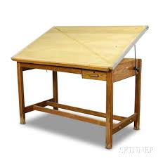 Large Drafting Table Large Hamilton Oak And Maple Drafting Table Sale Number 2967t