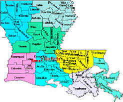 louisiana map areas southwest louisiana
