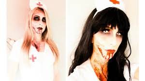scary zombie nurse halloween tutorial youtube