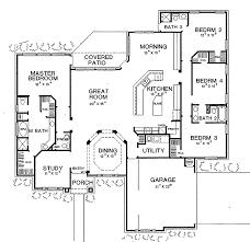 new american floor plans four bedroom new american hwbdo60629 new american modern open