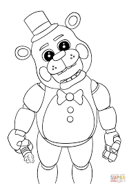 cute five nights at freddy u0027s coloring page free printable