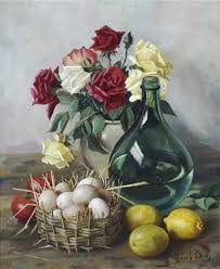flowers and fruit still with flowers and fruit by henk bos on artnet