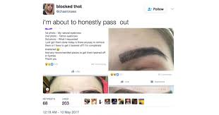 eyebrow tattoo microblading horror story viral tweet