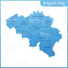 Map States And Capitals by The Detailed Map Of The Belgium With Regions Or States And Cities