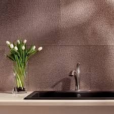 24 in x 18 in hammered pvc decorative backsplash panel in