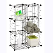 Bathroom Wire Shelving Simple Bathroom With Wire Cube Storage Organizer System Black