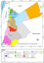 Surface Map The Map Of Jordan With Surface Water Basins Rainfall Figure