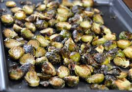 crispy lemon roasted brussels sprouts wishes and dishes