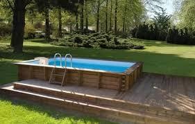 piscine rectangulaire hors sol bois uteyo