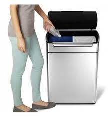 poubelle cuisine inox brossé poubelle de tri à pédale large 46 litres inox brossé rectangulaire