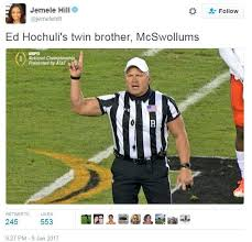 Ed Hochuli Meme - mcswollums ripped ref know your meme