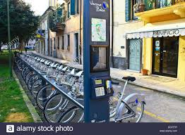 Map Of Verona Italy by Rent A Bike Stand Ticket Machine And Location Map Verona Italy