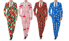christmas suit men s classic fit christmas suit with matching tie groupon