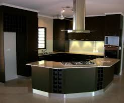 modern kitchen idea in black and semi circular for cozy cooking