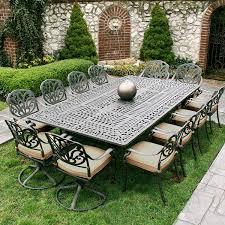 photo elegant aluminum patio furniture sets white metal garden