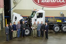 paccar trucks peterbilt installs first production paccar mx 11 engine truck news