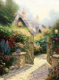 kinkade cottage ii painting cottage ii