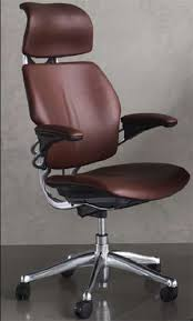 Leather Task Chair Humanscale Freedom Ergonomic Office Task Chair