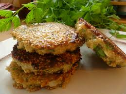 cuisiner quinoa galettes de quinoa aux herbes de recettes bio le cri de la