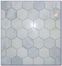 Carrara Marble Hexagon Tile Backsplash Tiles  Home Design Ideas - Hexagon tile backsplash