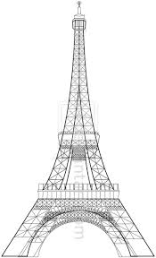 black eiffel tower drawing