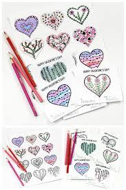 hearts coloring valentine u0027s cards printable hearts