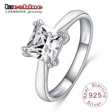 engagement rings 100 lzeshine women rings 100 925 sterling silver square shape with cz